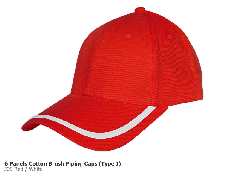 Type J - 6 Panels Cotton Brush Piping Caps