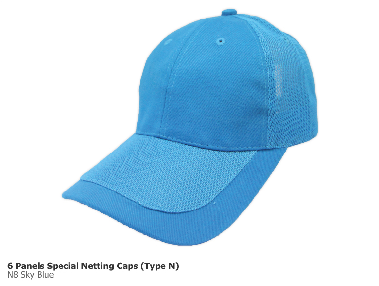 Type N - 6 Panels Special Netting Caps